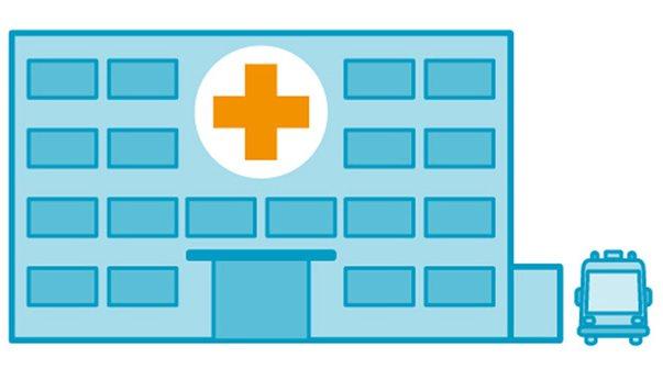 Klinik-Supervision Krankenhaus Grafik